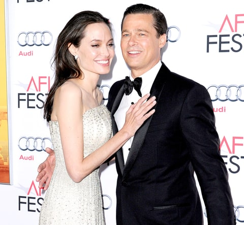 Angelina Jolie and Brad Pitt arrive at the AFI FEST 2015.