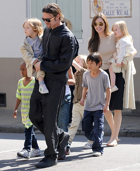 Angelina, Brad, Kids