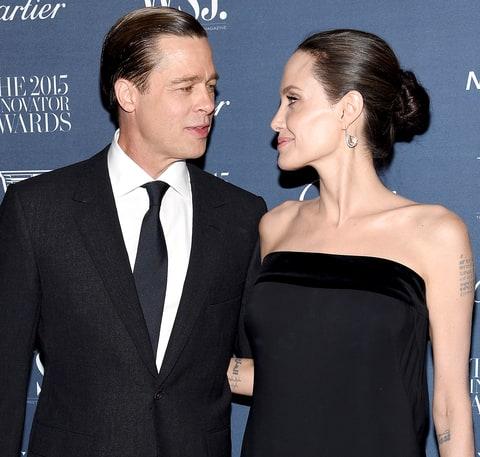 Angelina Jolie Pitt and Brad Pitt attend the WSJ. Magazine 2015 Innovator Awards.