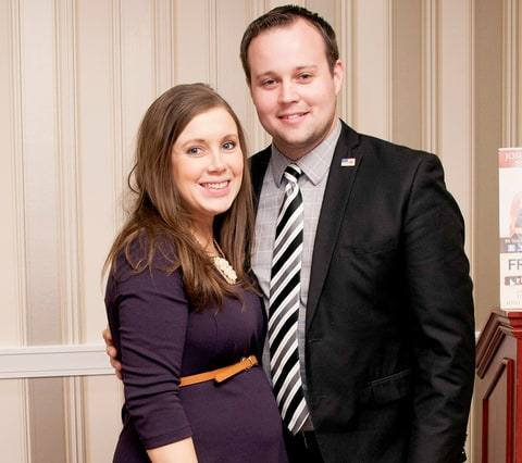 Anna Duggar and Josh Duggar pose during the 42nd annual Conservative Political Action Conference (CPAC) at the Gaylord National Resort Hotel and Convention Center on February 28.