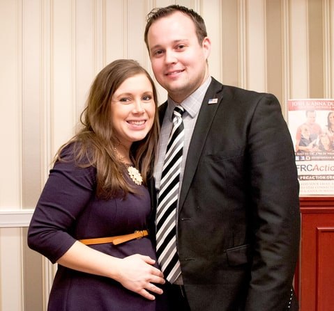 Anna Duggar and Josh Duggar pose during the 42nd annual Conservative Political Action Conference on Feb. 28.