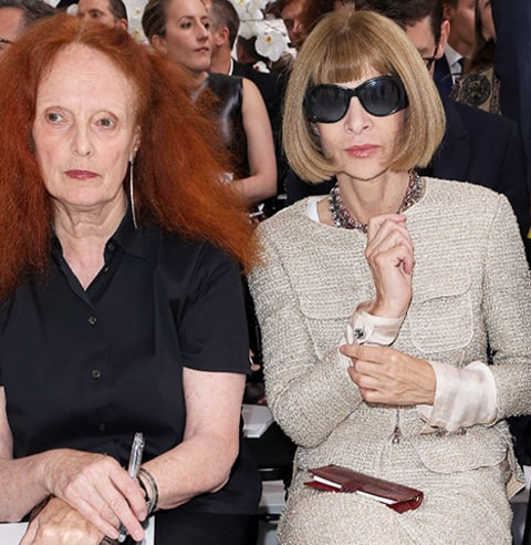 Anna Wintour Dior fashion show