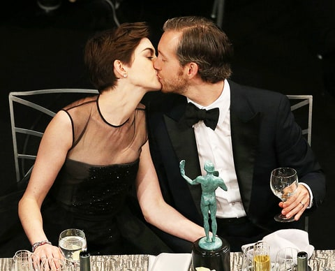 Anne Hathaway and Adam Shulman in 2013