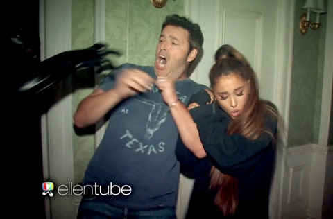 Andy Lassner and Ariana Grande