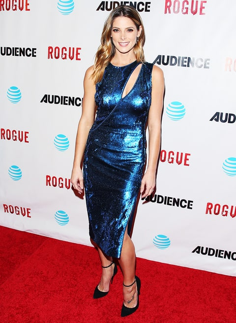Ashley Greene Shimmers In Blue Dress On Red Carpet Video