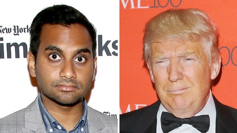 Aziz Ansari and Donald Trump