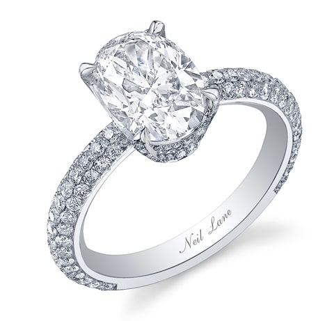 Bachelorette JoJo's Oval Diamond Micro Pave Engagement Ring