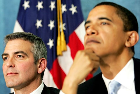 george clooney and obama