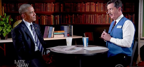 President Barack Obama has mock interview on The Late Show with Stephen Colbert