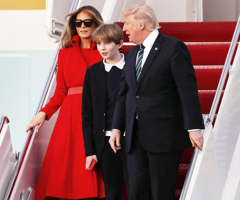 Barron Trump Makes Rare White House Visit - Us Weekly