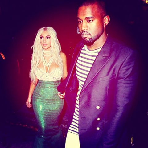 kim and kanye halloween instagram