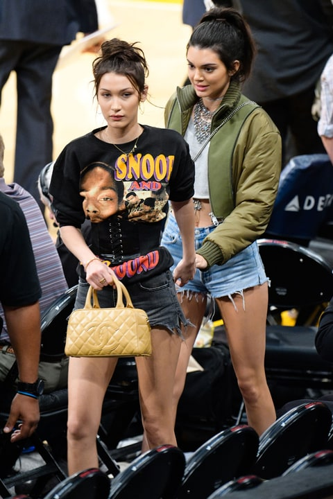 Kendall Jenner, Bella Hadid's Fierce Courtside Style ...