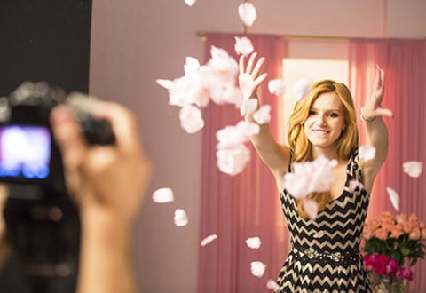 Bella Thorne and Flower petals