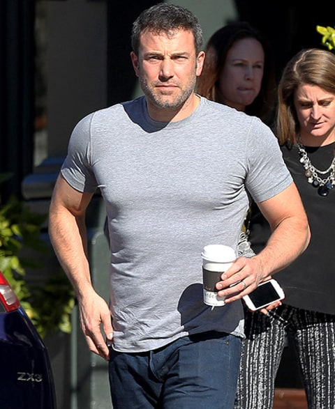 Ben Affleck Shows Off Huge Biceps in Tight T-Shirt, Looks ...