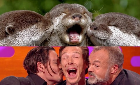 Benedict Cumberbatch, Johnny Depp and Graham Norton