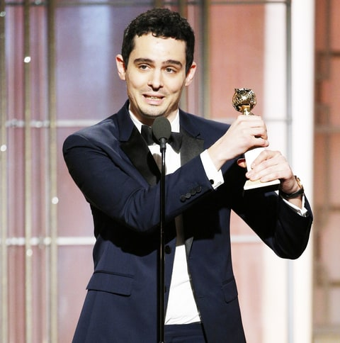 Damien Chazelle accepts the award for Best Director - Motion Picture for