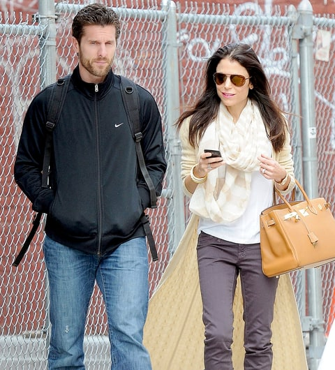 Jason Hoppy and Bethenny Frankel are seen on March 12, 2012, in New York City.