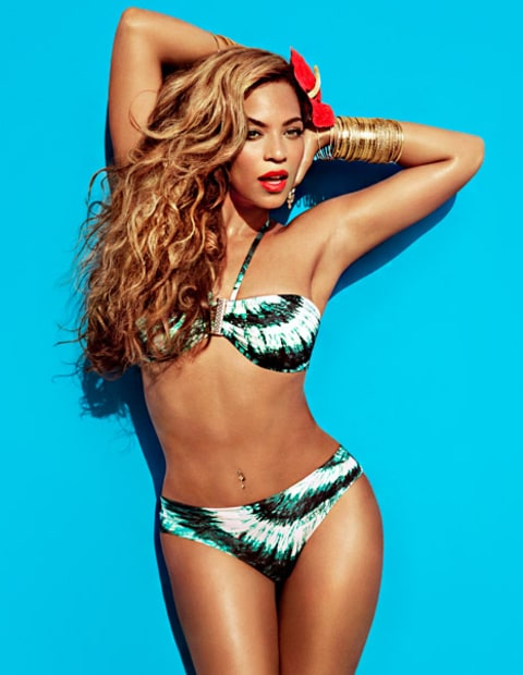 beyonce h&m patterned bikini
