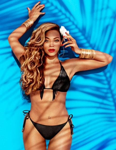 Beyonce Knowles String Bikini