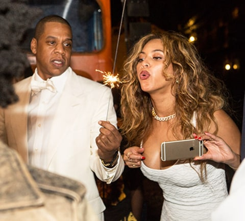 Beyonce and Jay Z sparkler
