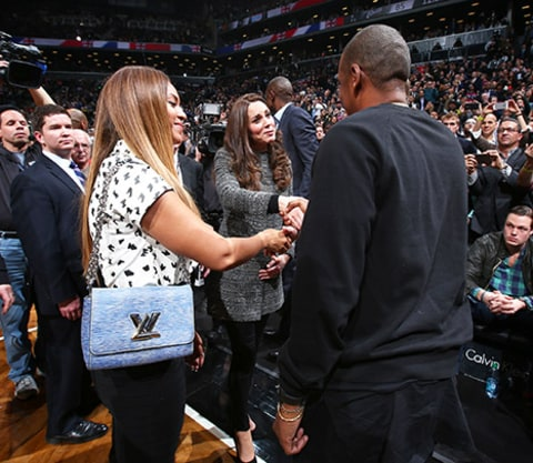 Kate Middleton and Prince William beyonce jayz shaking hands