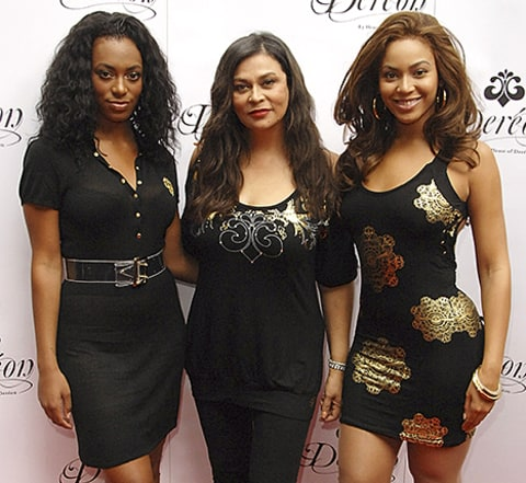 tina knowles, beyonce and solange