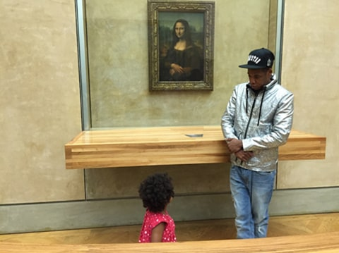 Beyonce at the Louvre