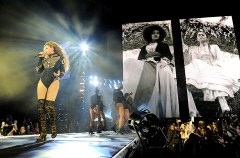 Beyonce performs during the Formation World Tour at Marlins Park on Wednesday, April 27, 2016, in Miami, Florida.