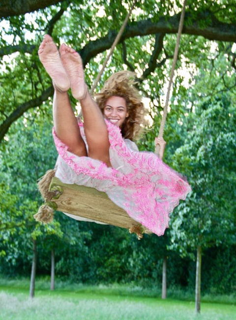 Beyonce Swings Alone