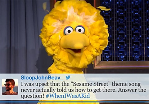Big Bird on Jimmy
