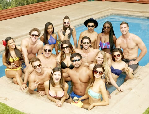 The cast of Big Brother