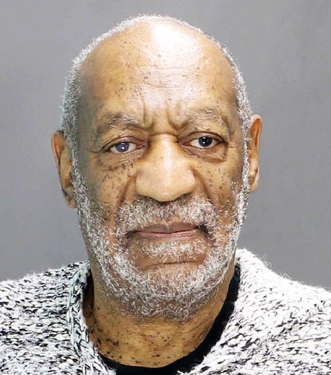 Bill Cosby's mug shot, after he was charged with three counts of aggravated sexual assault.