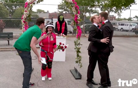 Rachel Dratch and Billy Eichner