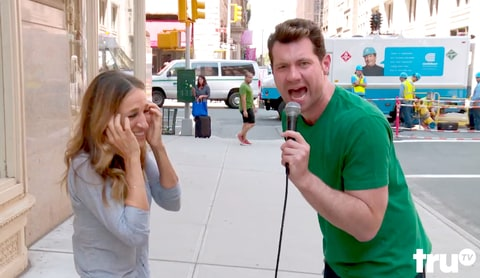Billy Eichner and Sarah Jessica Parker