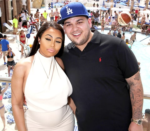 Blac Chyna and Rob Kardashian attend the Sky Beach Club at the Tropicana Las Vegas on May 28, 2016, in Las Vegas.