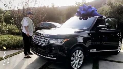 Blac Chyna Rob Kardashian Range Rover snapchat