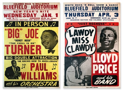 Racially segregated Rock and Roll concert posters