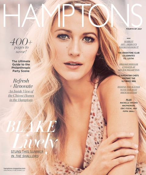 Blake Lively Hamptons Magazine cover