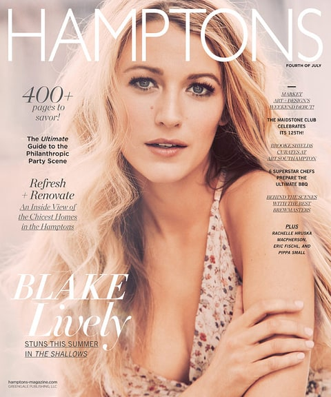 Blake Lively on the cover of Hamptons