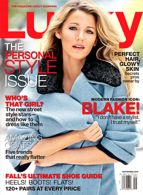 Blake Lively Lucky mag cover