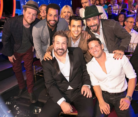 Jacob Underwood, Trevor Penick, Erik-Michael Estrada, A.J. McLean, Joey Fatone and Jeff Timmons