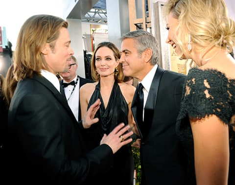 George Stacy Angelina and Brad at SAGs