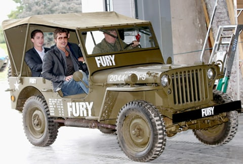 brad pitt fury photocall in jeep