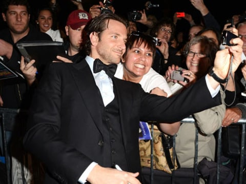 Bradley Cooper with fans