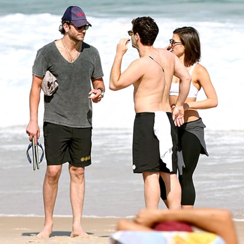 Bradley and Justin on beach