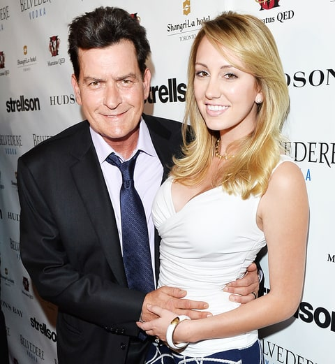 Charlie Sheen and Brett Rossi in 2014