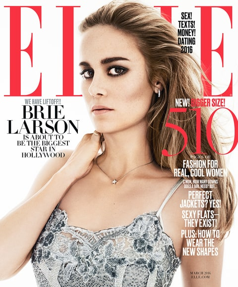 Brie Larson on the cover of ELLE