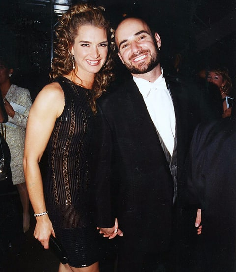 Brooke Shields and Andre Agassi