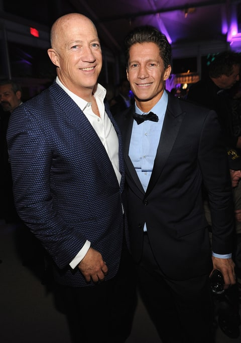 Bryan Lourd (L) and Bruce Bozzie (R) attend the 2014 Vanity Fair Oscar Party Hosted By Graydon Carter on March 2, 2014 in West Hollywood, California