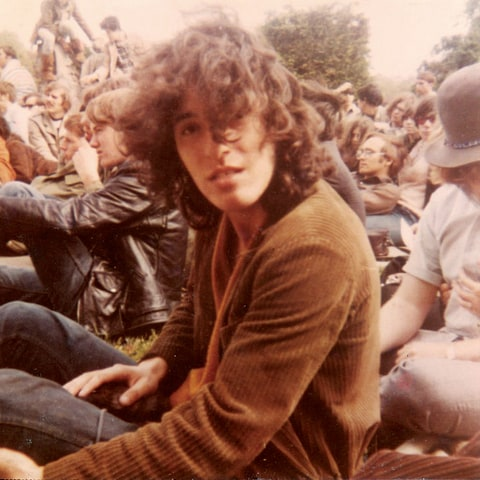 Bruce in West Long Brance, N.J., 1969, watching an opening act before performing with his band Child.